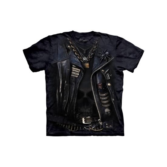 T-shirt bikerjack zwart