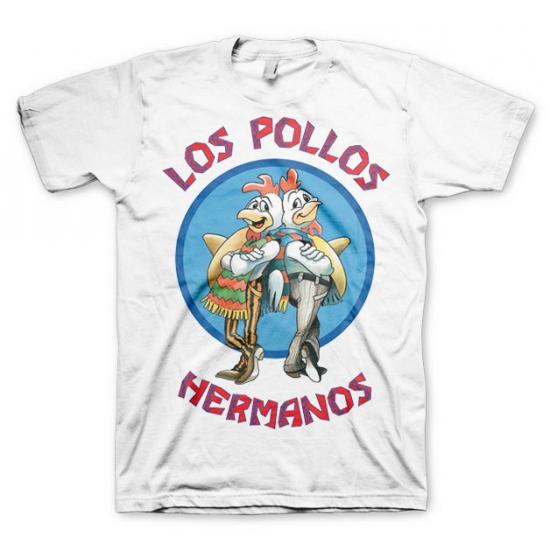 T-shirt Breaking Bad Los Pollos wit