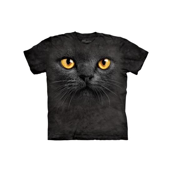T-shirt zwarte kat met gele ogen