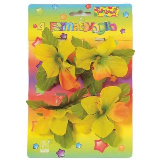 Tafelkleed klemmen gekleurde bloemen 4 stuks