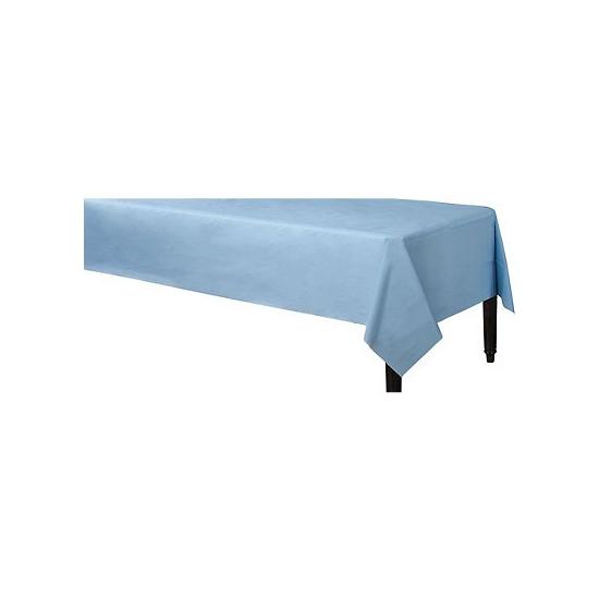 Tafelkleed lichtblauw 140 x 240 cm