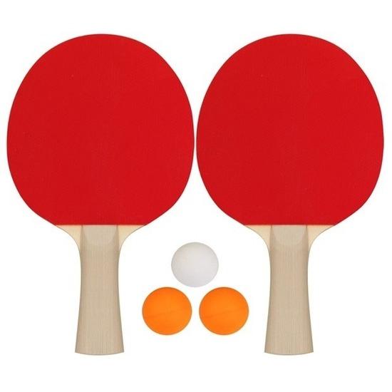 Tafeltennis set met 3 ballen