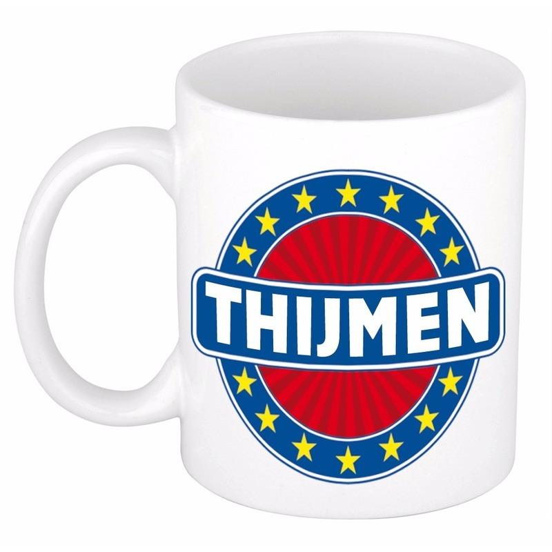 Thijmen naam koffie mok - beker 300 ml