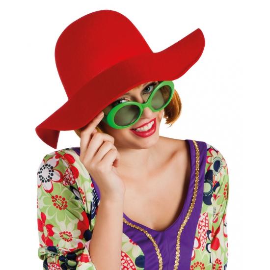 Toppers - Rode flaphoed voor dames