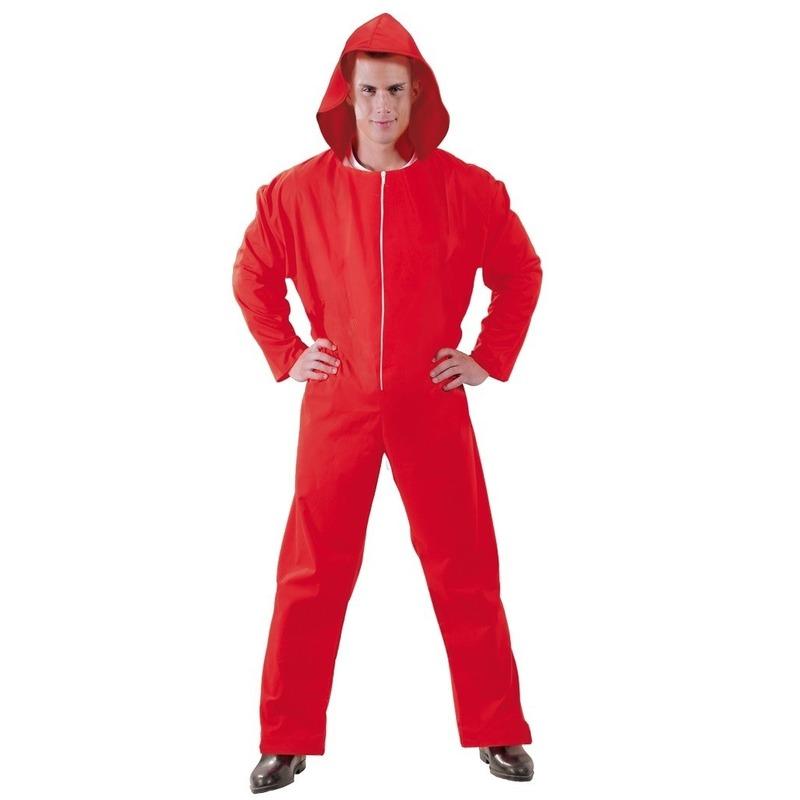 Toppers - Verkleed overall Papel rood voor heren