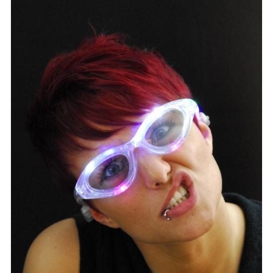 Transparante bril met LED verlichting