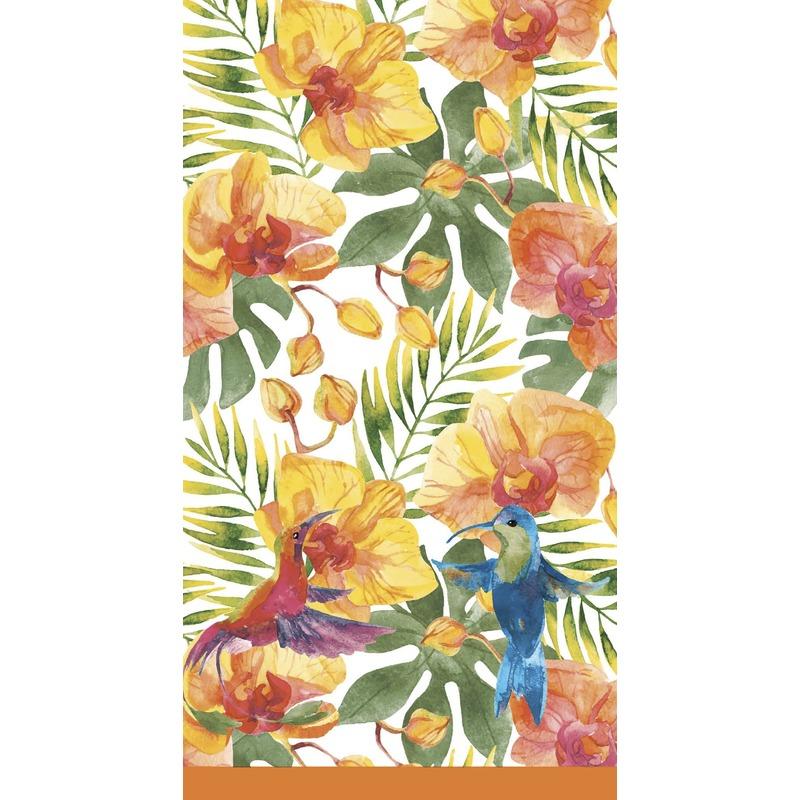 Tropische print tafellaken/tafelkleed 138 x 220 cm herbruikbaar