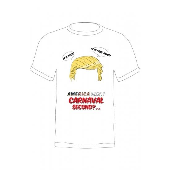 Trump verkleed t-shirt America First voor volwassenen