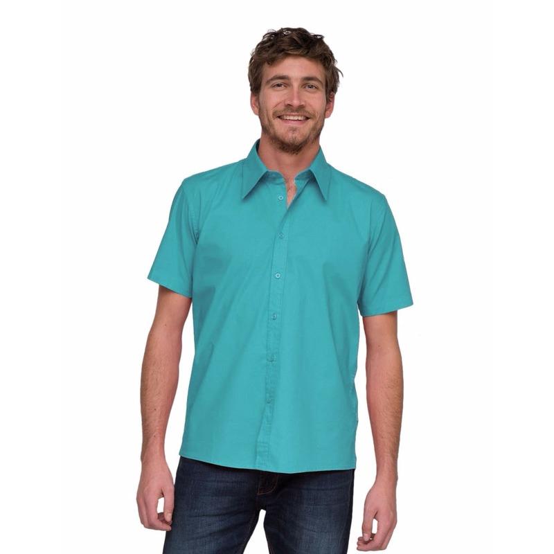 Turquoise Lemon&Soda overhemd voor heren