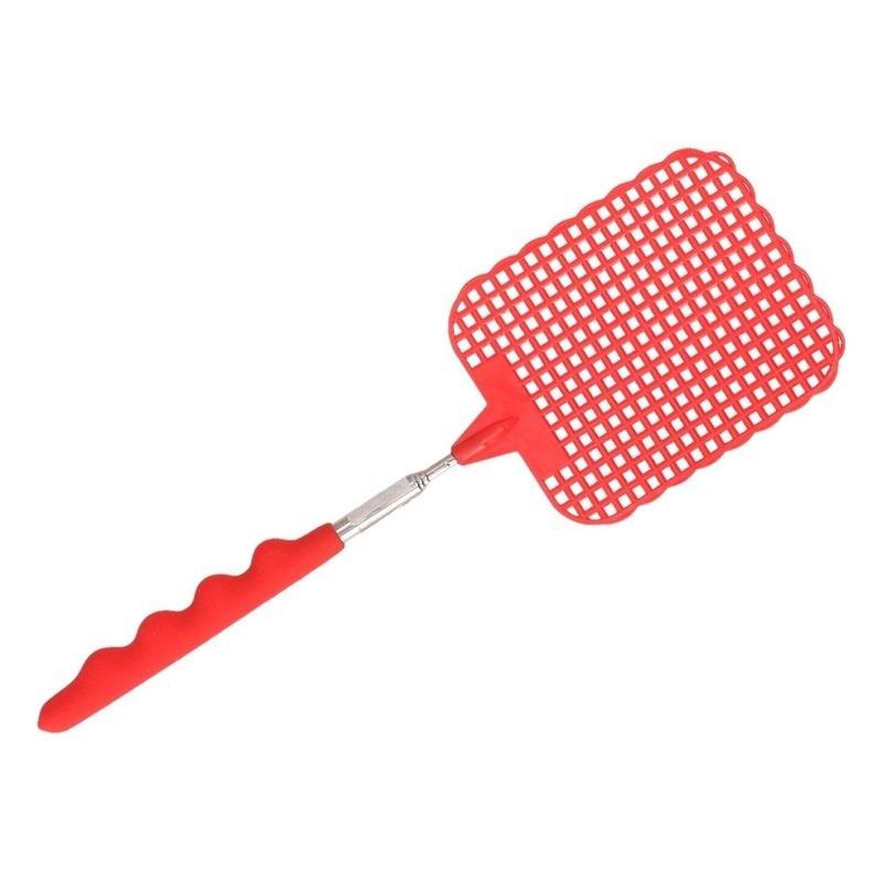 Uitschuifbare vliegenmepper rood 60 cm