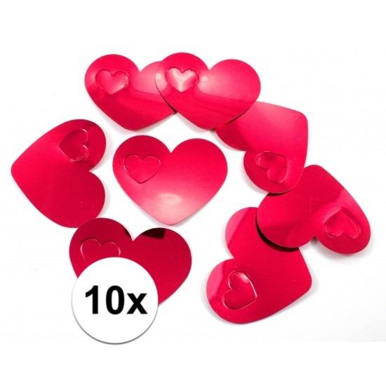 Valentijn - 10x mega confetti rode hartjes