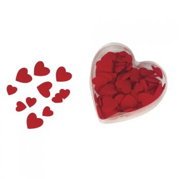 Valentijn - 200x Luxe velours strooihartjes rood