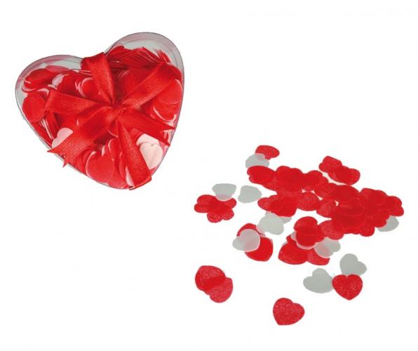 Valentijn - Hartjes bad confetti 20 gram in hartjes doosje