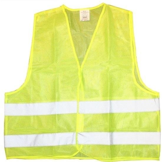 Veiligheidsvest fluorescerend geel voor volwassenen