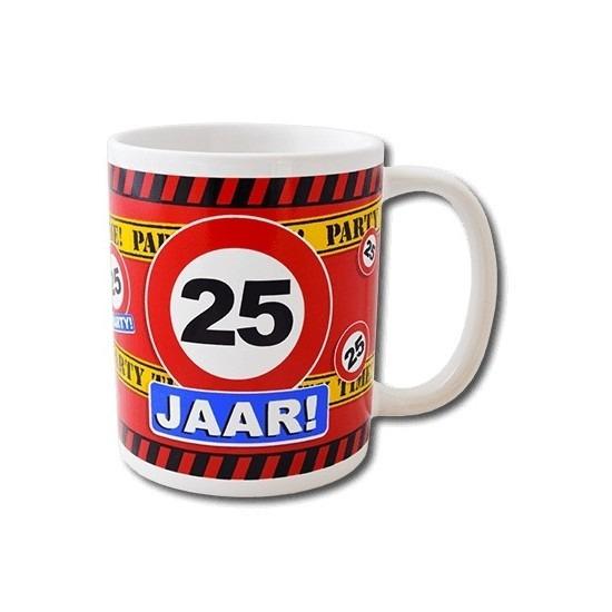 Verjaardag 25 jaar mok - beker 250 ml