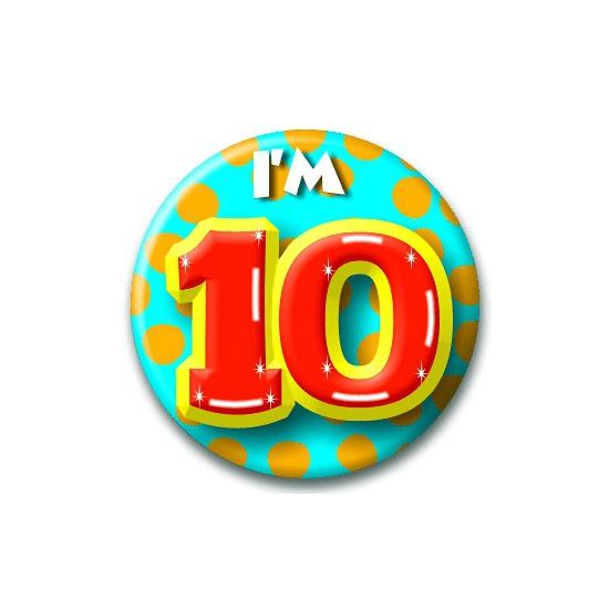 Verjaardags button I am 10