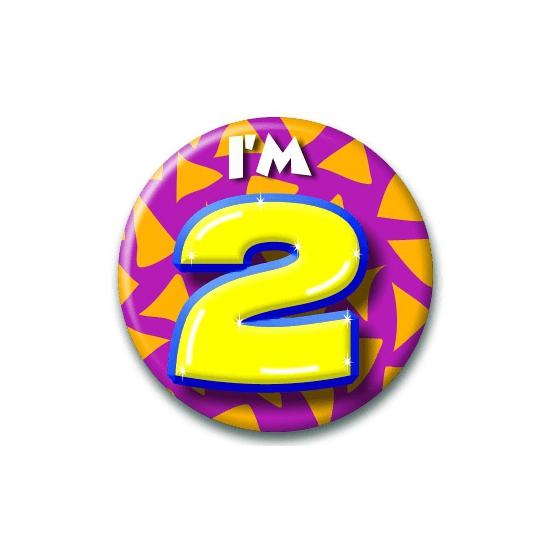 Verjaardags button I am 2
