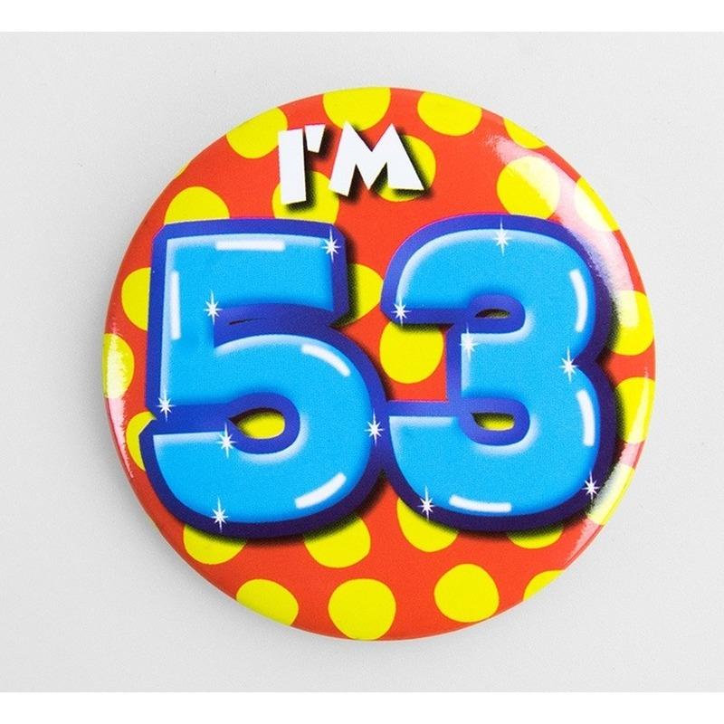Verjaardags button I am 53