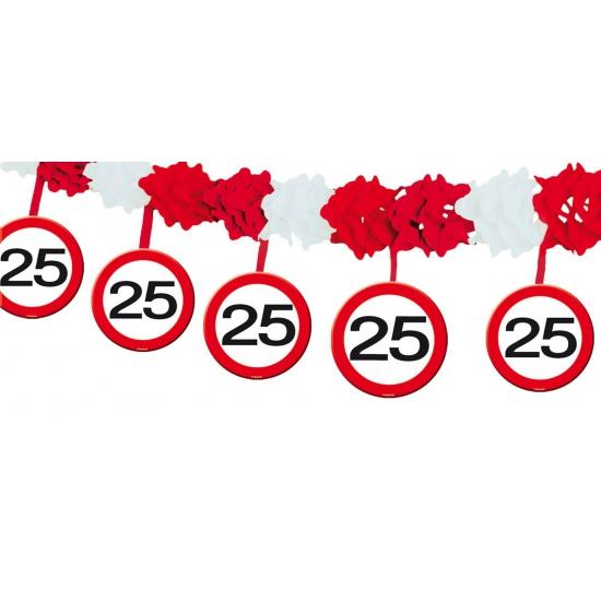 Verkeersbord slinger 25 jaar 4 mtr