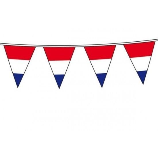 Vlaggenlijn Holland rood wit blauw 10 meter