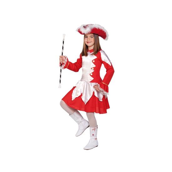 Voordelig rood dansmarieke kostuum voor meiden