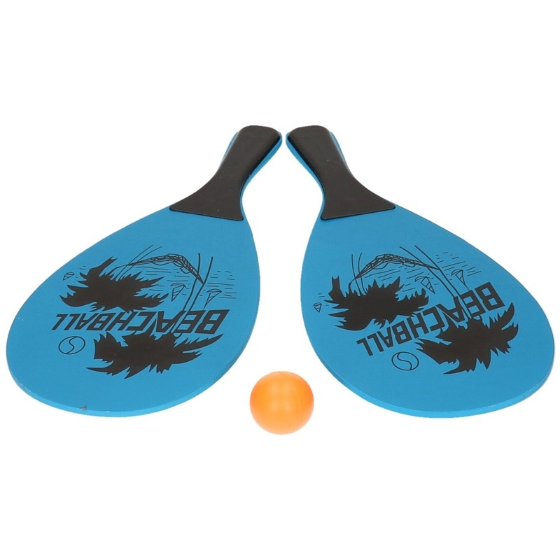 Voordelig strand tennis/beachball set blauw