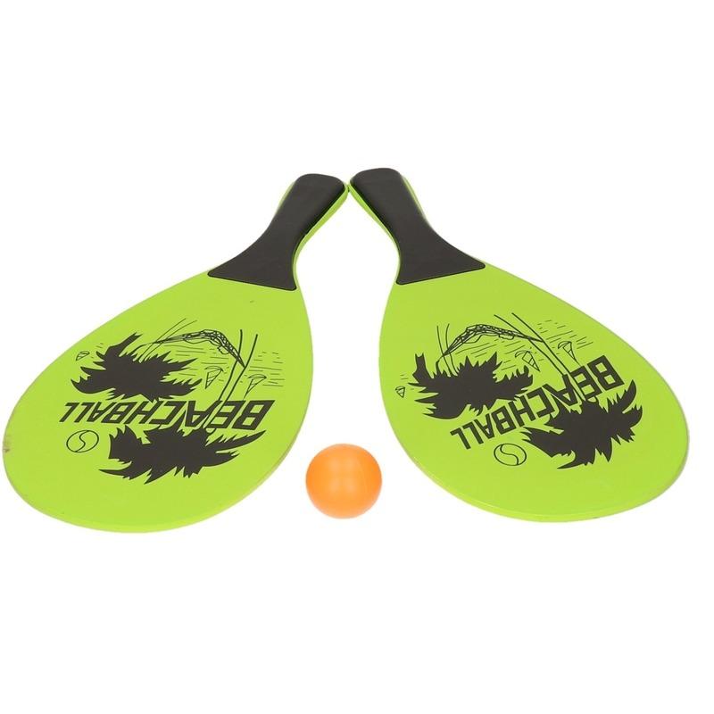 Voordelig strand tennis/beachball set groen