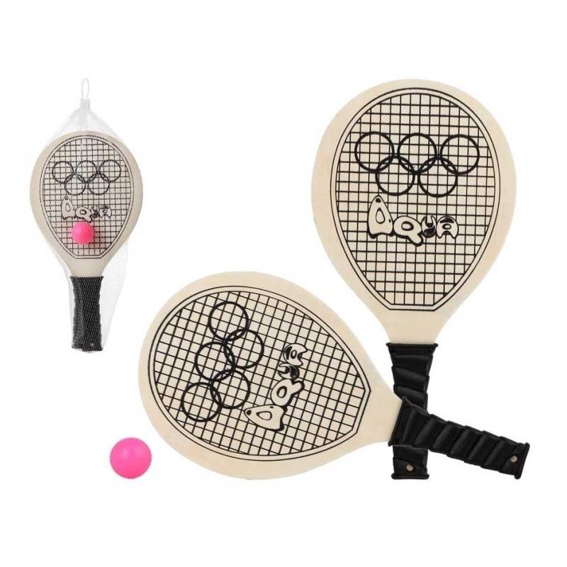 Voordelig strand tennis/beachball set