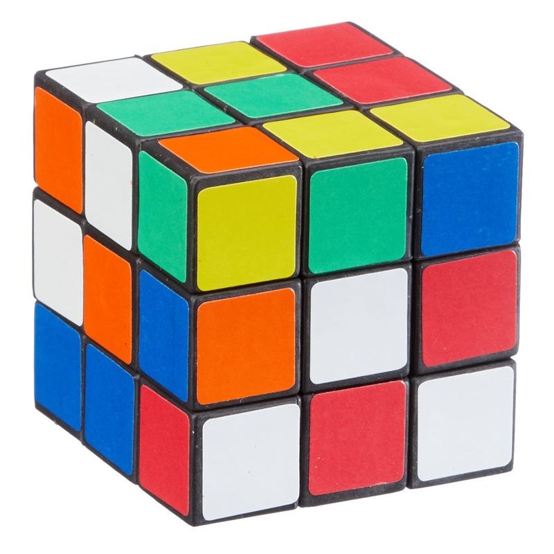 Voordelige kubus puzzel 6 cm