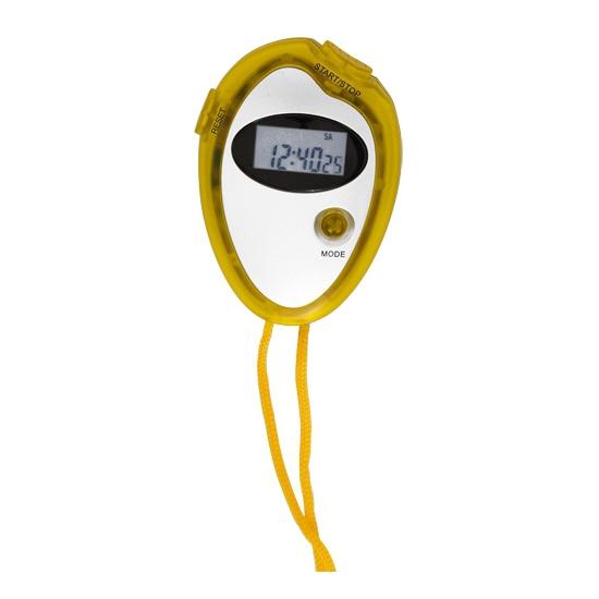 Voordelige sport stopwatch geel