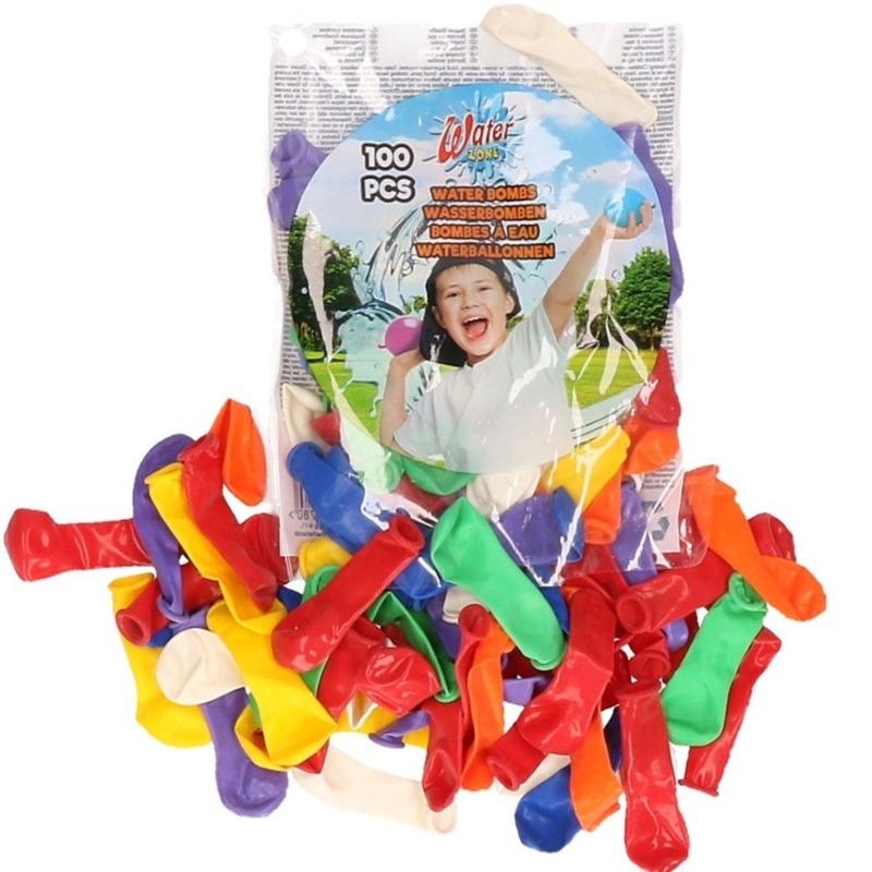 Waterballonnen gekleurd 100 stuks