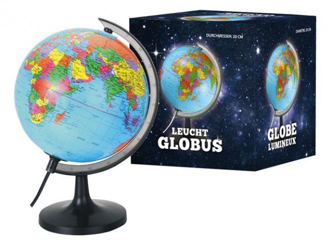 Wereldbol met verlichting 20 cm