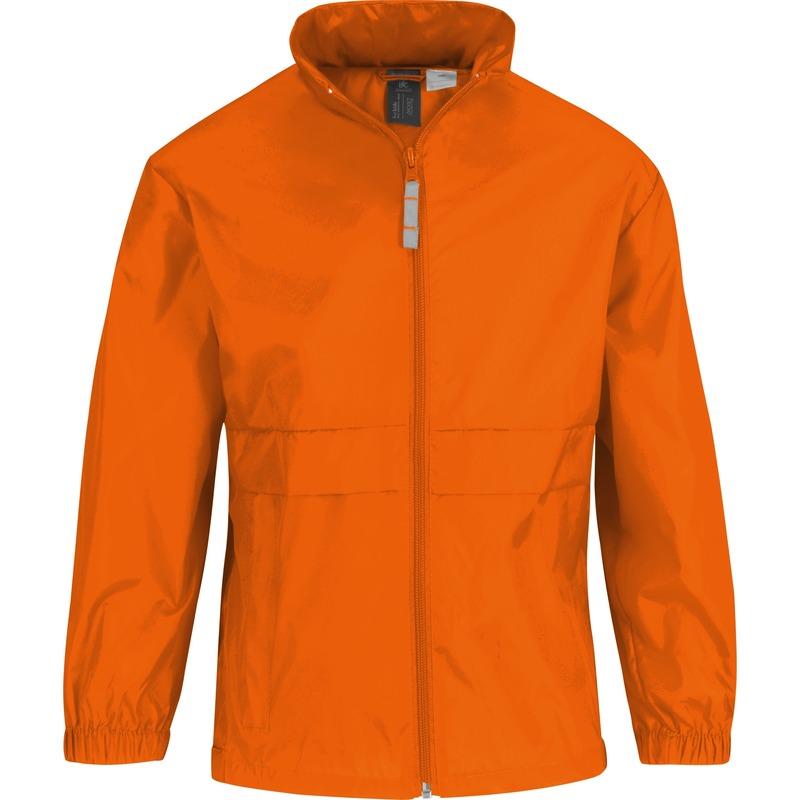 Windjas/regenjas voor jongens oranje