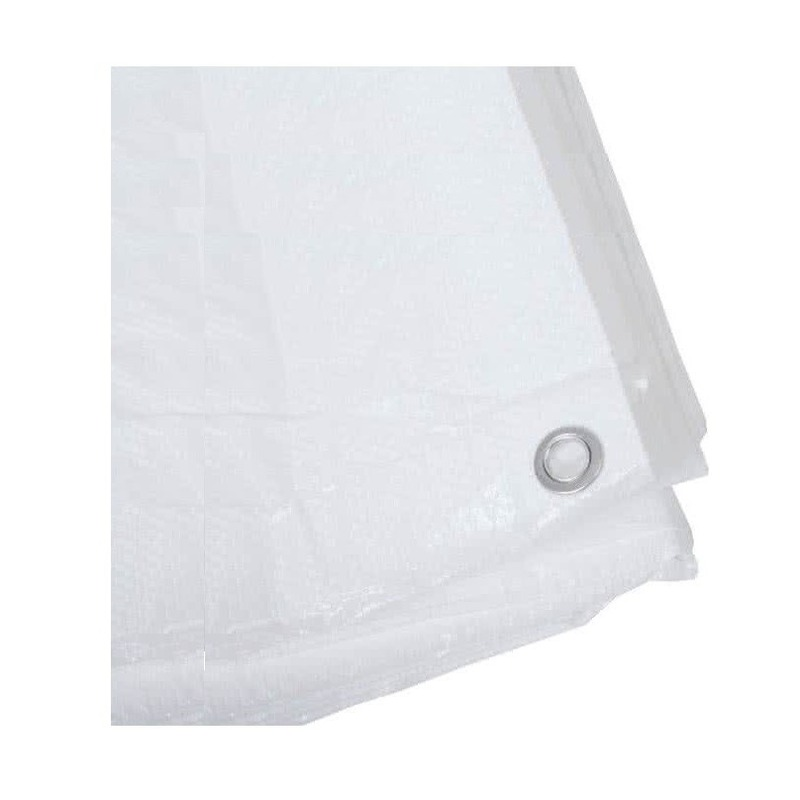 Wit afdekzeil-dekzeil 4 x 5 meter