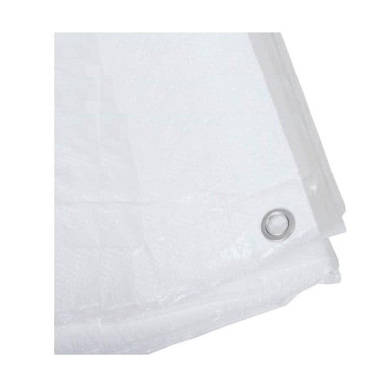 Wit afdekzeil-dekzeil 6 x 8 meter