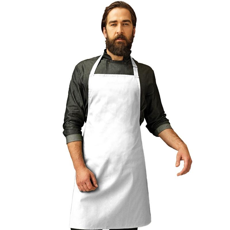 Wit barbecue keukenschort voor volwassenen