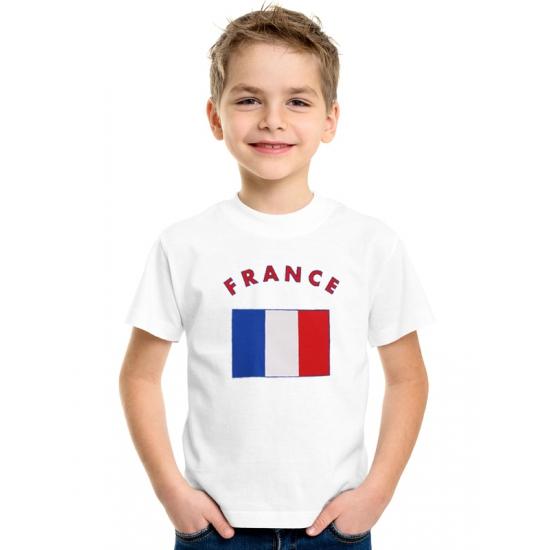 Wit kinder t-shirt Frankrijk