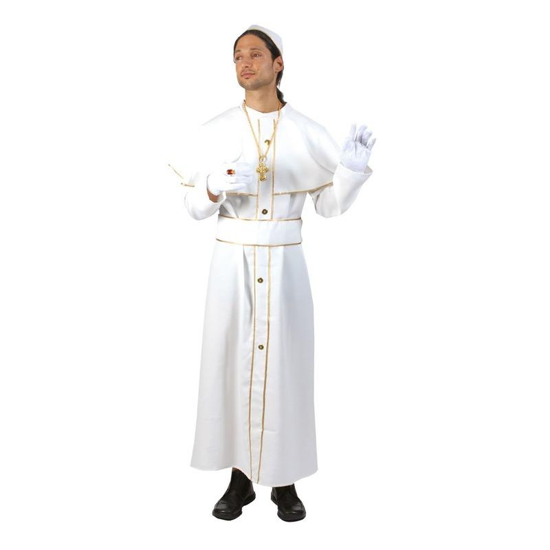 Wit Paus kostuum met solideo