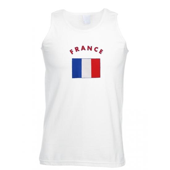 Witte heren tanktop Frankrijk
