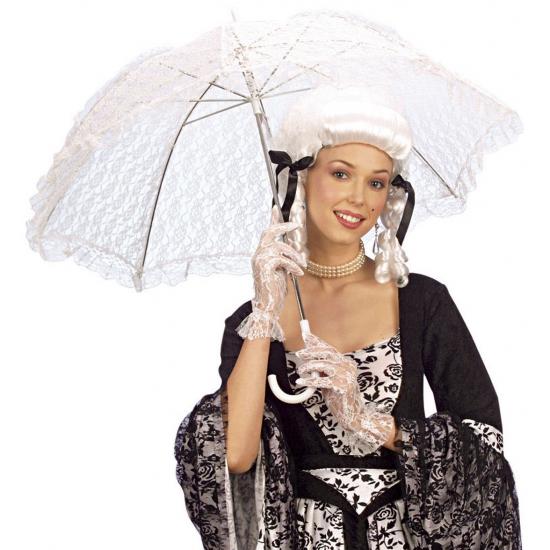 Witte kanten paraplu