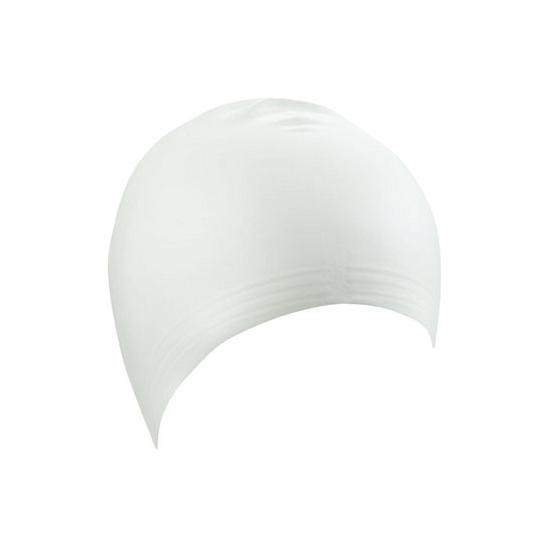 Witte latex badmuts voor volwassenen