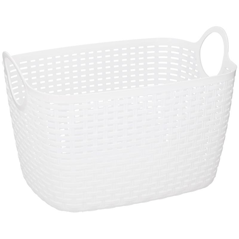 Witte plastic opbergmand 40 cm