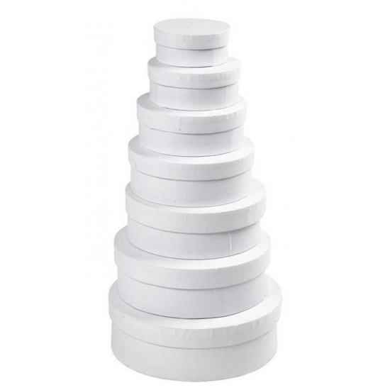Witte ronde doos 12,5 cm