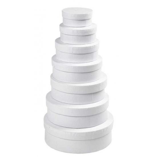 Witte ronde doos 8,5 cm