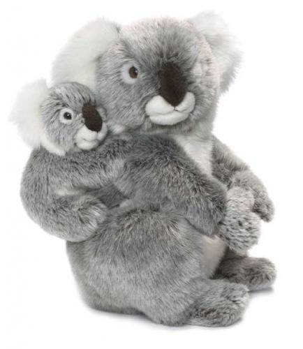 WNF pluche koala knuffel met baby 28 cm