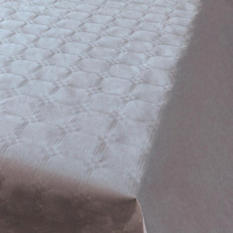 Zilver papieren tafellaken/tafelkleed 800 x 118 cm op rol