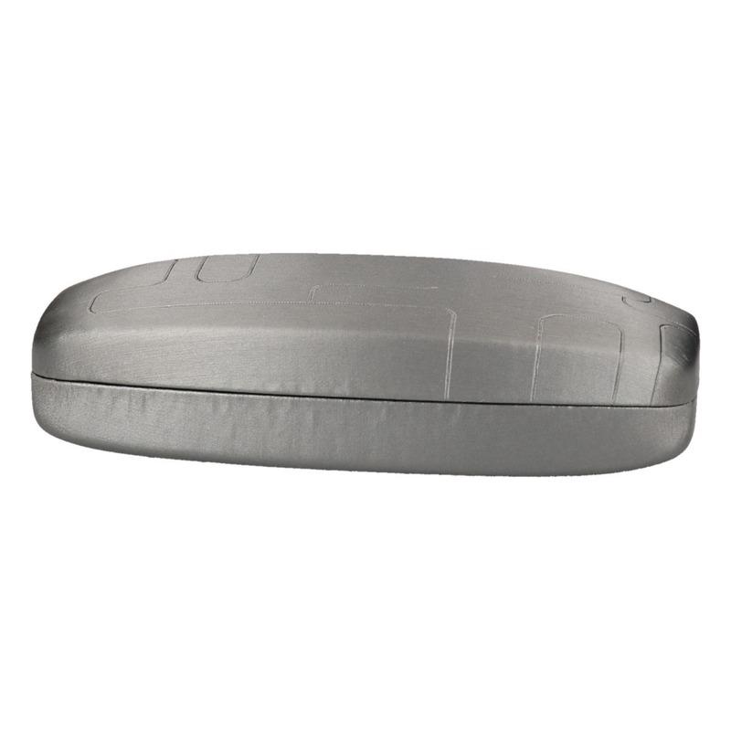 Zilveren harde brillenkoker