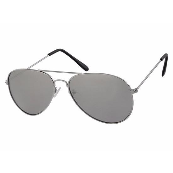 Zilveren kinder piloten zonnebril met lichte glazen