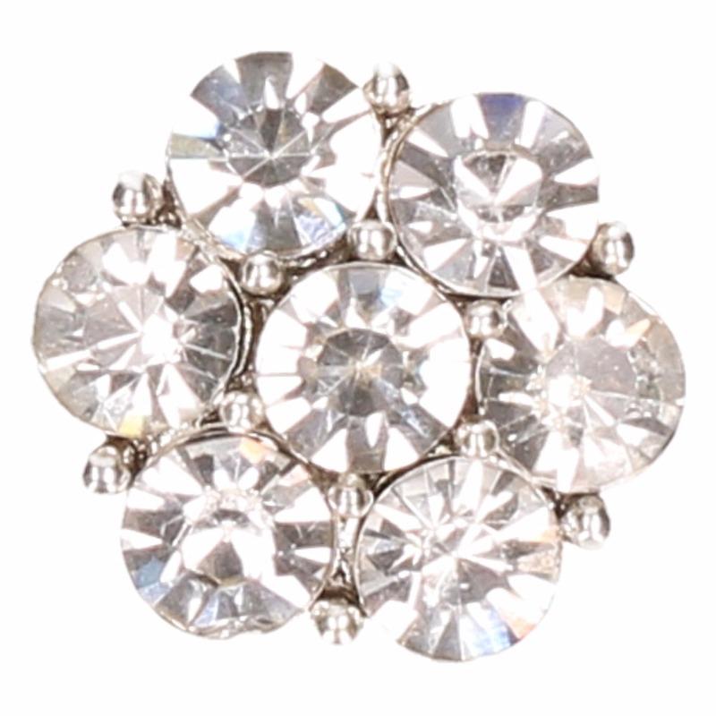 Zilveren steentjes chunk 1,8 cm