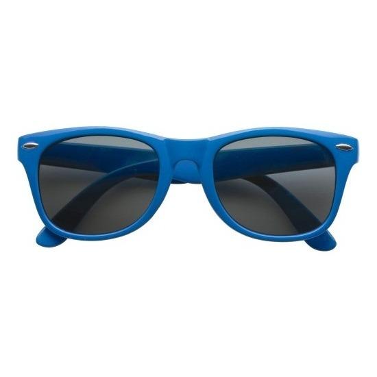 Zonnebril blauw plastic montuur voor volwassenen